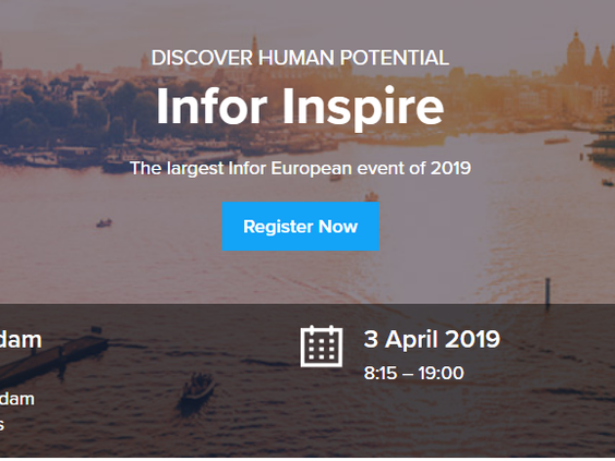 Infor Inspire Amsterdam 3 april 2019